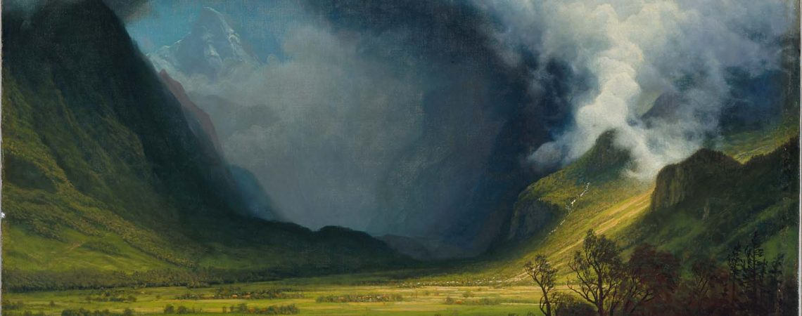 Storm in the Mountains por Albert Bierstadt